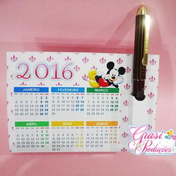 Calendário de mesa com porta caneta 2016