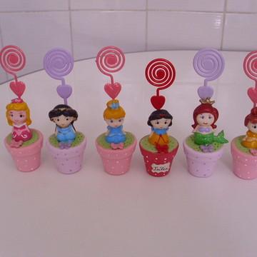 Lembrancinhas princesas baby porta recados aniversario