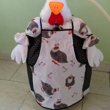 capa de botijao de gás galinha de angola