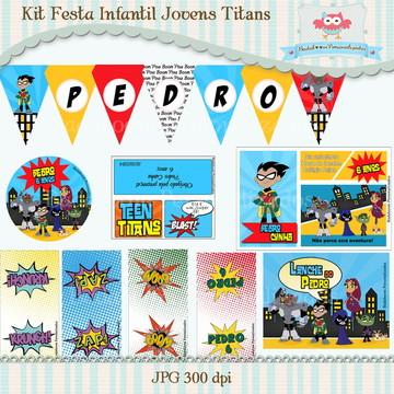 Kit Festa Infantil Jovens Titans