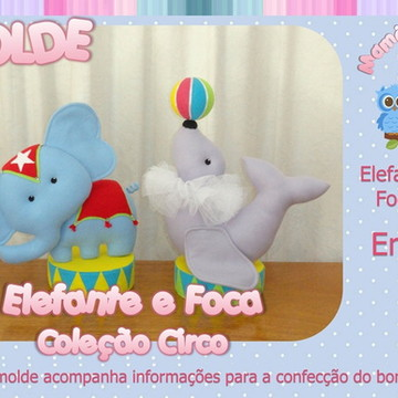 Molde Elefante e Foca - Coleção Circo