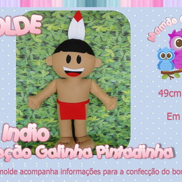 Molde Indio - Galinha Pintadinha