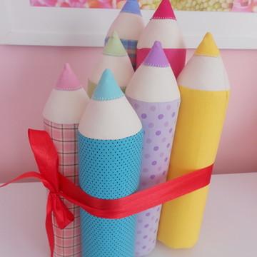 Kit almofadas lápis de cor