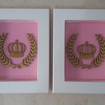 Duo de quadros Coroa Frete Grátis