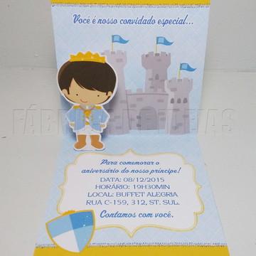 Convite Príncipe em 3D