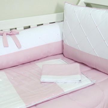 Kit de Berço Provence Rosa