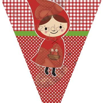Bandeirola Chapéuzinho Vermelho