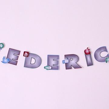 Varal de letras-tecnologia R$ por letra