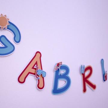 Varal de letras-praia R$ por letra