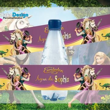 Rótulo para água Enrolados