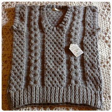 Colete Crochet masculino