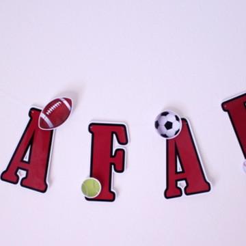Varal de letras-esporte (R$ por letra)