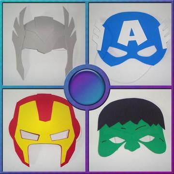 Mascaras - Tema os Vingadores