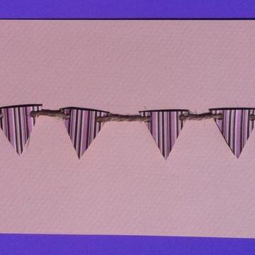 Mini bandeirolas de papel