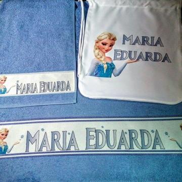 kit toalha banho personalizado Frozen