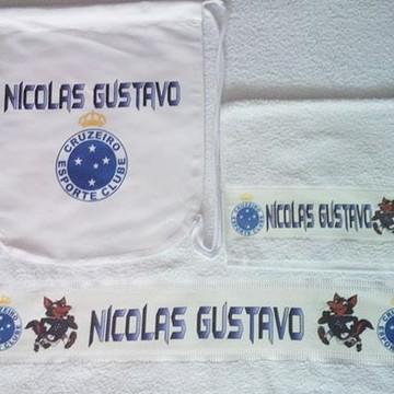 kit toalha banho personalizado Cruzeiro
