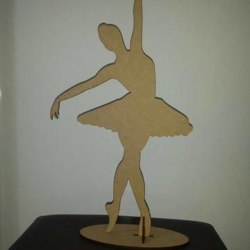 Bailarina 50cm em MDF CRU
