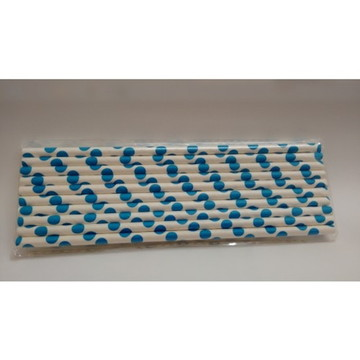 Canudo de Papel c/20Un - Azul Turquesa