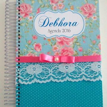 Agenda 2016 - Floral com Azul Tiffany