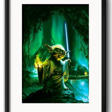Quadro Yoda Star Wars Decoração com Paspatur