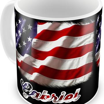 Caneca Bandeira Estados Unidos.