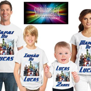KIT 4 Camisetas Vingadores