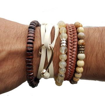 Kit pulseiras Azol pedras naturais
