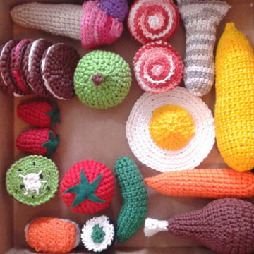 BOX 20 Peças - Comidinhas de crochet