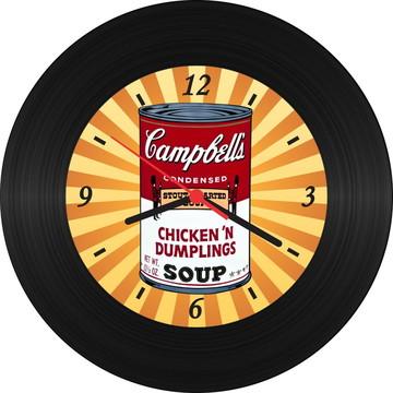 Relógio de Vinil - Sopa Campbell's