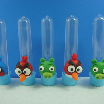 Tubete Turma Angry Bird Aplique