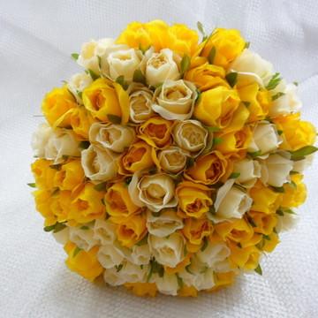 Buque - Mini Rosas amarelo com creme