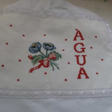 CAPA DE GARRAFÃO DE AGUA -FLORES AZUIS