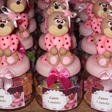 Lembrancinhas Ursinho rosa e marrom