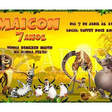 Arte Convite Digital - Madagascar