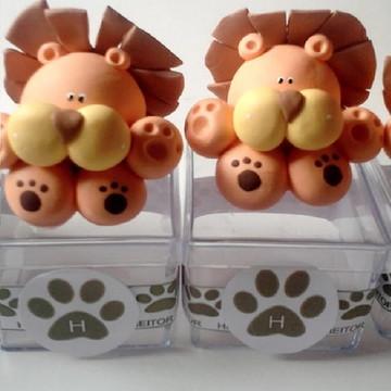 Lembrancinhas safari - caixinhas biscuit