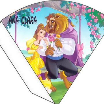 Cone Personalizado - Bela e a Fera
