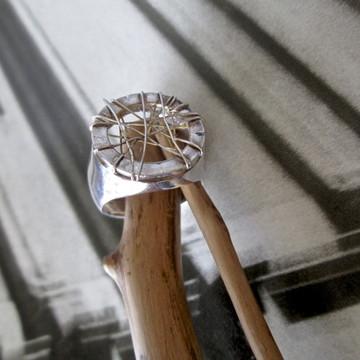 Anel de prata - 'Trançado Estelar'