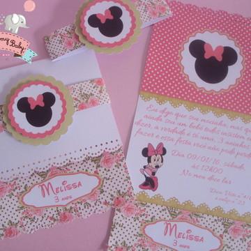 Convite Minnie Convite Luxo