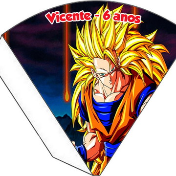 Cone Personalizado - Dragon Ball