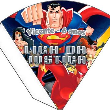 Cone Personalizado - Liga da Justiça