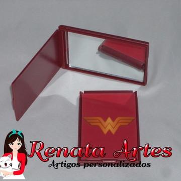 Espelho de bolsa Personalizado Vermelho