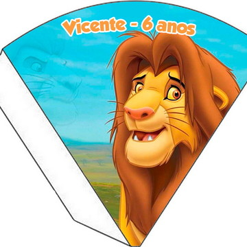 Cone Personalizado - Rei Leão