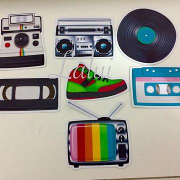 Recortes - festa anos 80