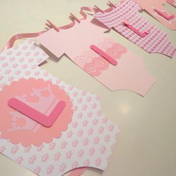 Bandeirola - Roupinhas rosa