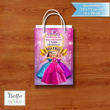 Sacolinha personalizada Barbie Escola de Princesas