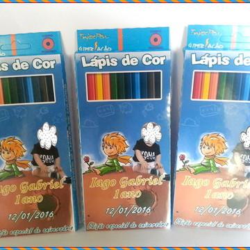 Lápis de cor personalizado