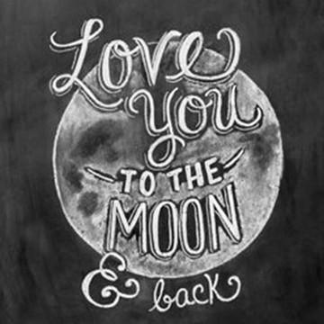 Quadro Vintage - Mensagem Lua