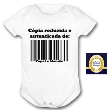 body bebe personalizado copia pai e mãe