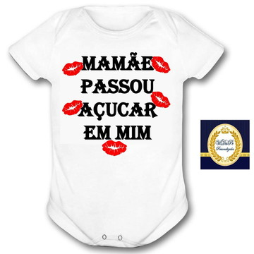 body bebe personalizado frase mamãe