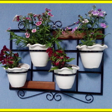 Treliça vertical, suporte para plantas